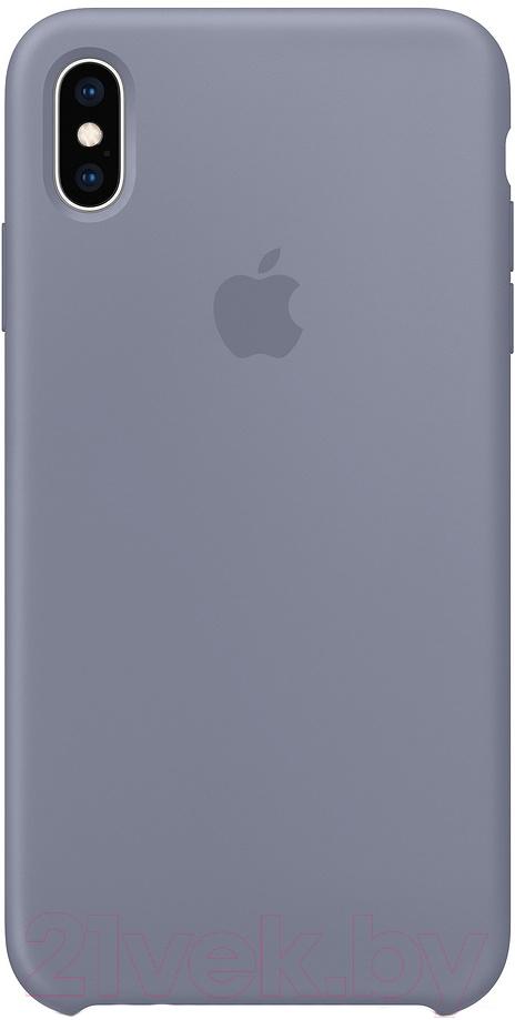 Купить Чехол-накладка Apple, Silicone Case для iPhone XS Max Lavender Gray / MTFH2, Китай, силикон