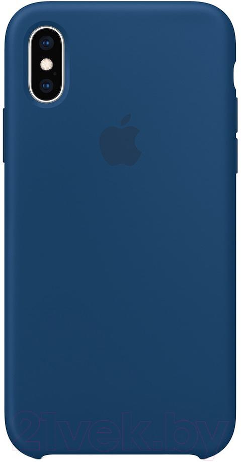 Купить Чехол-накладка Apple, Silicone Case для iPhone XS Blue Horizon / MTF92, Китай, силикон