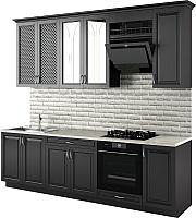 Готовая кухня Молодечномебель Злата 2600 (черный) -