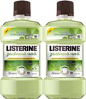Ополаскиватель для полости рта Listerine Зеленый чай (250мл+250мл) -