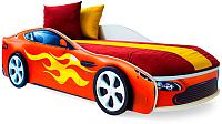 Стилизованная кровать детская Бельмарко Бондмобиль / 555 (красный) -
