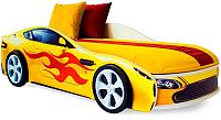 Стилизованная кровать детская Бельмарко Бондмобиль / 556 (желтый) -