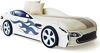 Детская кровать-машинка Бельмарко Бондмобиль / 557 (белый) -