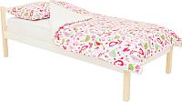 Односпальная кровать Бельмарко Skogen classic / 583 (бежевый/белый) -