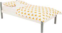 Односпальная кровать Бельмарко Skogen classic / 581 (графитовый/белый) -