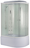 Душевая кабина Niagara NG-310-14WFM L 120x80x215 (мозаик стекло/белый) -