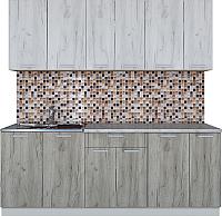 Готовая кухня Интерлиния Мила Лайт 2.1 (дуб белый/дуб серый) -