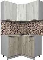 Готовая кухня Интерлиния Мила Лайт 1.2x1.2 (дуб белый/дуб серый) -