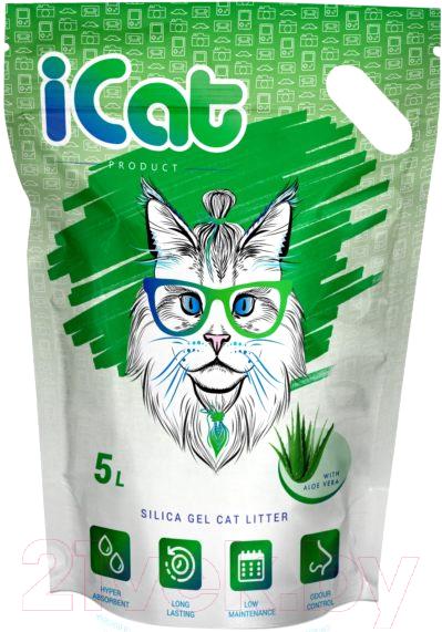 Купить Наполнитель для туалета iCat, Aloe силикагелевый (5л), Китай