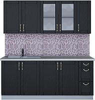 Готовая кухня Интерлиния Мила Крафт 1.9А (дуб английский) -