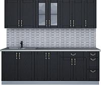 Готовая кухня Интерлиния Мила Крафт 2.3Б (дуб английский) -