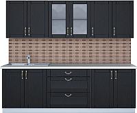 Готовая кухня Интерлиния Мила Крафт 2.4Б (дуб английский) -