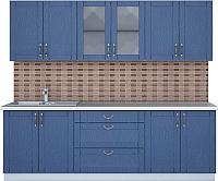 Готовая кухня Интерлиния Мила Крафт 2.4Б (дуб лазурный) -