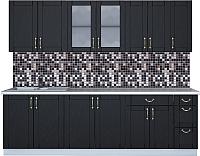 Готовая кухня Интерлиния Мила Крафт 2.5Б (дуб английский) -
