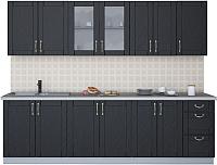 Готовая кухня Интерлиния Мила Крафт 2.6А (дуб английский) -