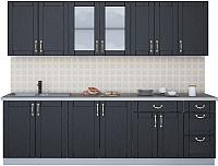 Готовая кухня Интерлиния Мила Крафт 2.6Б (дуб английский) -