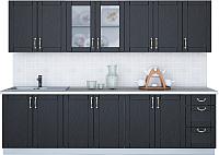 Готовая кухня Интерлиния Мила Крафт 2.8А (дуб английский) -