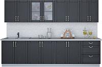 Готовая кухня Интерлиния Мила Крафт 3.0А (дуб английский) -