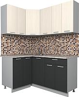 Готовая кухня Интерлиния Мила Лайт 1.2x1.6 (вудлайн кремовый/антрацит) -
