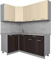 Готовая кухня Интерлиния Мила Лайт 1.2x1.8 (ваниль/дуб венге) -