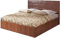 Двуспальная кровать Мебель-Парк Аврора 2 200x160 (темный) -