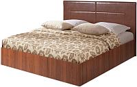 Двуспальная кровать Мебель-Парк Аврора 4 200x180 (темный) -