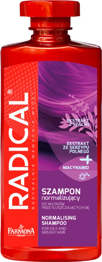 Купить Шампунь для волос Farmona, Radical нормализирующий для жирных и склонных к жирности волос (400мл), Польша