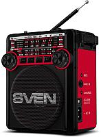 Радиоприемник Sven SRP-355 (черный/красный) -