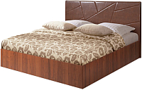Двуспальная кровать Мебель-Парк Аврора 7 200x180 (темный) -