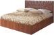 Двуспальная кровать Мебель-Парк Аврора 6 200x160 (темный) -