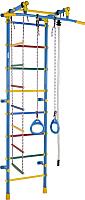 Детский спортивный комплекс Формула здоровья Smile1 (голубой/радуга) -