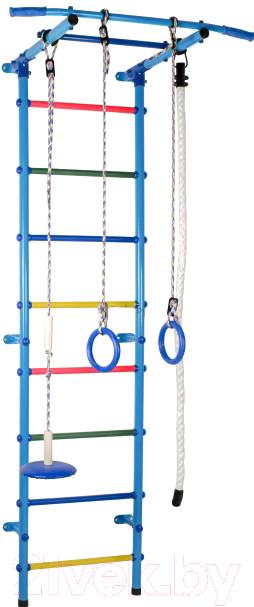 Купить Детский спортивный комплекс Формула здоровья, Start1 (голубой/радуга), Россия, металл