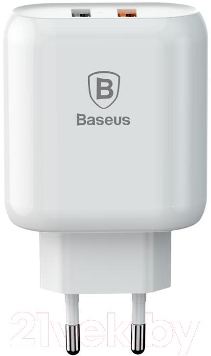 Купить Адаптер питания сетевой Baseus, Bojure QC 3.0, Китай, белый