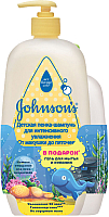 Набор косметики детской Johnson's Baby Baby От макушки до пяточек пенка-шампунь + гель д/мытья (500мл+300мл) -
