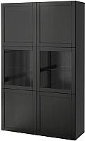 Шкаф с витриной Ikea Бесто 390.594.38 -