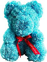 Мишка из роз No Brand Rose Bear / 8001 (40см, голубой) -