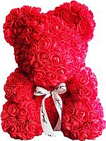 Мишка из роз No Brand Rose Bear / 8002 (40см, красный) -