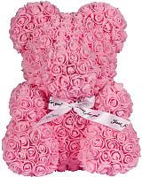 Мишка из роз No Brand Rose Bear / 8003 (40см, светло-розовый) -