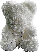 Мишка из роз No Brand Rose Bear / 8004 (40см, белый) -