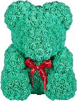 Мишка из роз No Brand Rose Bear / 8005 (40см, голубой) -