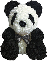Мишка из роз No Brand Rose Bear 40см (панда) -