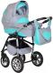 Детская универсальная коляска Smile Line Serenade 16 F 3 в 1 (se02, светло-серый/бирюзовый) -