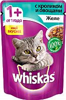 Корм для кошек Whiskas Желе с кроликом и овощами (85г) -