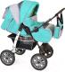 Детская универсальная коляска Smile Line Alf I (al06, бирюзовый/светло-серый) -