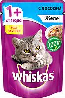Корм для кошек Whiskas Желе с лососем (85г) -
