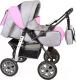 Детская универсальная коляска Smile Line Alf I (al11, серый/розовый) -