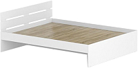 Двуспальная кровать Славянская столица Д-Кр1600 (белый) -