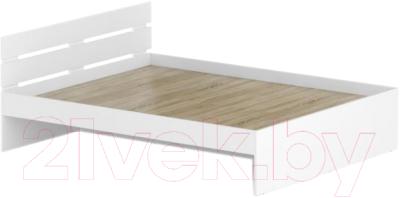 Двуспальная кровать Славянская столица Д-Кр1600 (белый)