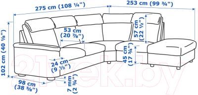 Диван угловой Ikea Лидгульт 992.760.33