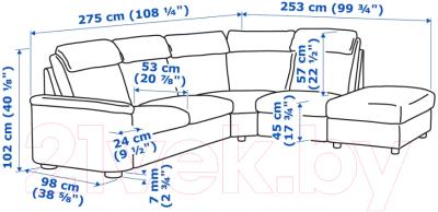 Диван угловой Ikea Лидгульт 992.760.28